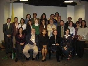 Foto oficial de la Red INAV en el I Encuentro realizado en la Universidad de La Sabana (Colombia)
